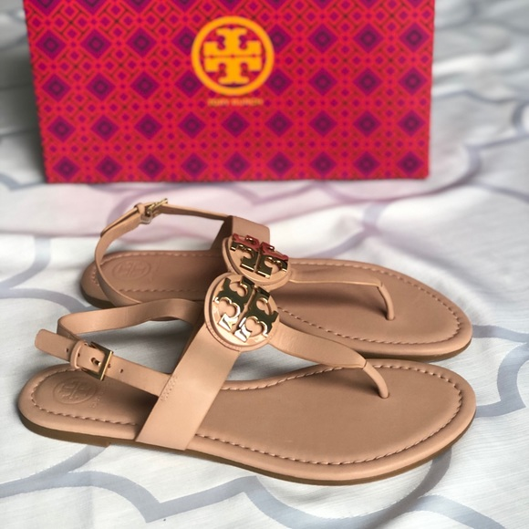 64f542d6ef45 Tory Burch • NEW Bryce Nude Flat Thong Sandal